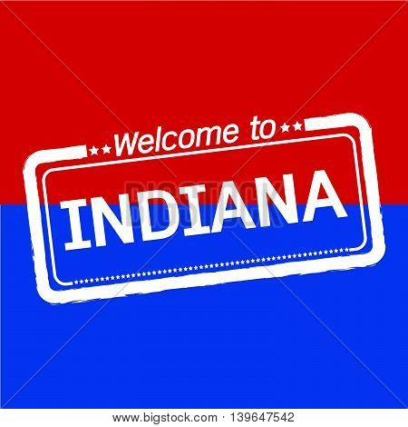 Welcome to INDIANA of US State illustration design