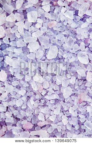 Sea Salt For Beauty Treatment With Lavender