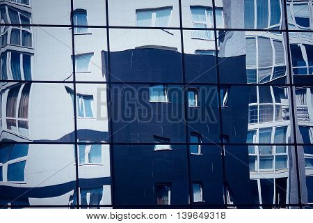 Distorted Reflection Of The City Architecture