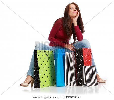 Sexy shopping Frau