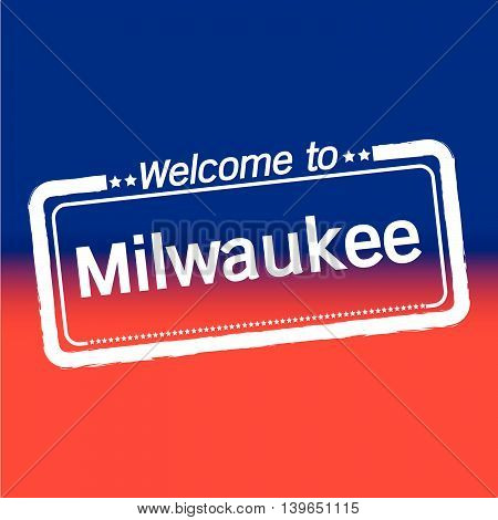 an images of Welcome to Milwaukee City illustration design
