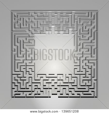 Maze On Gray Background. Concept For Decision-making.