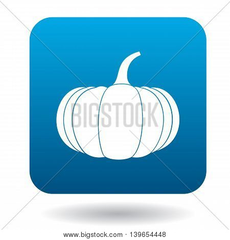 Pumpkin icon in flat style on a white background