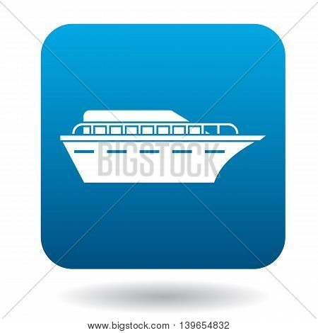 Ship icon in flat style on a white background