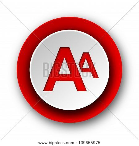 Alphabet Red Modern Web Icon On White Background