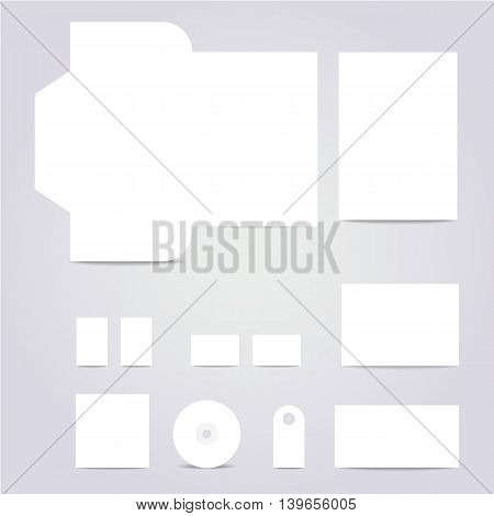 Vector white blank Corporate Templates. Vector Illustration.