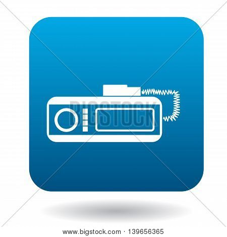 Radio taxi icon in flat style on a white background
