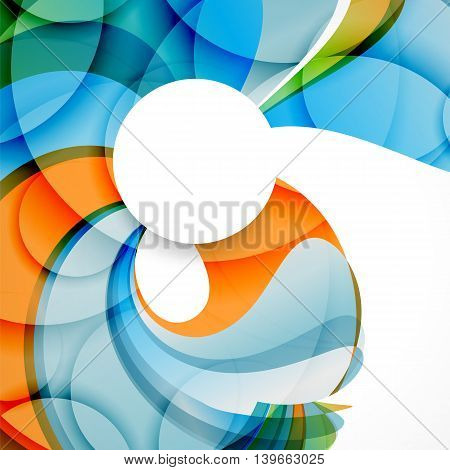 Abstract background with color waves can be used for business presentations, flyer, website background brochure cover