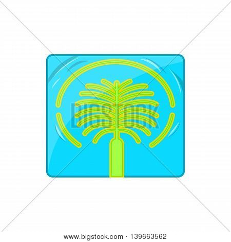 Artificial Islands in UAE icon in cartoon style isolated on white background. Structure symbol