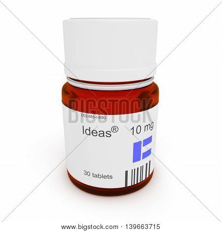 Pill bottle: Ideas 10 mg 3d illustration
