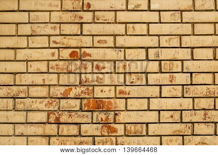 Weathered brick wall texture urban decay background