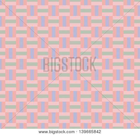 Weaving seamless geometric pattern background; pastel color.