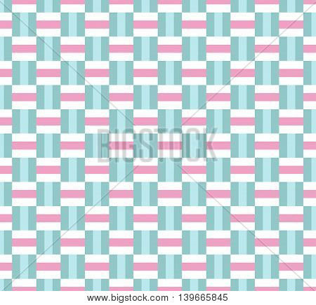Weaving geometric seamless pattern background; pastel color.