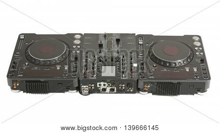 DJ mixer isolated on white