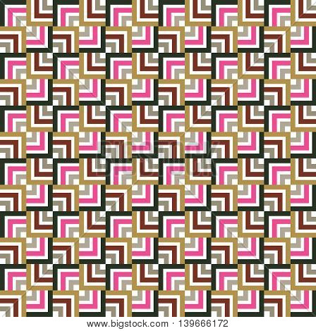 Geometric seamless pattern. Simple regular background. Vector illustration with square.