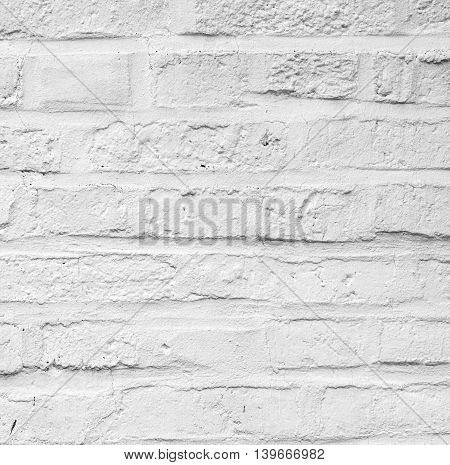 Old White Painted Bricks