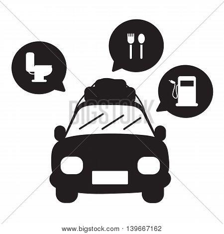 Travel by car . Vector cartoon easy design .