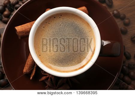 Cup of coffee, closeup