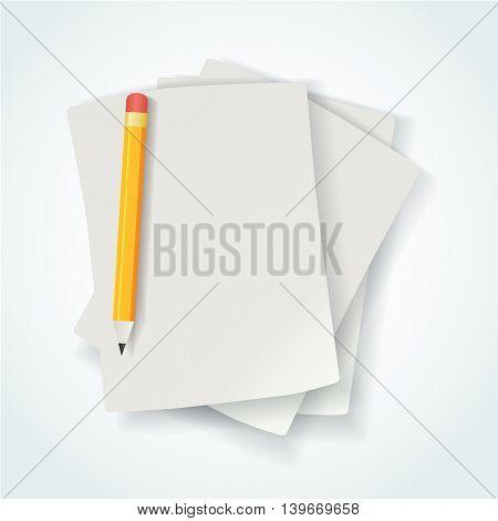 Empty paper sheet. Vector EPS10 Design template