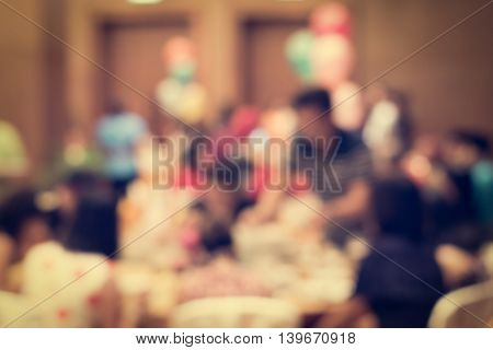 Blurred People In The Banquet Room