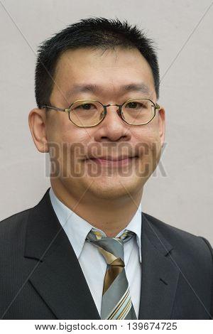 A portrait of an asian business man