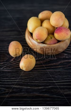 orange fresh apricots