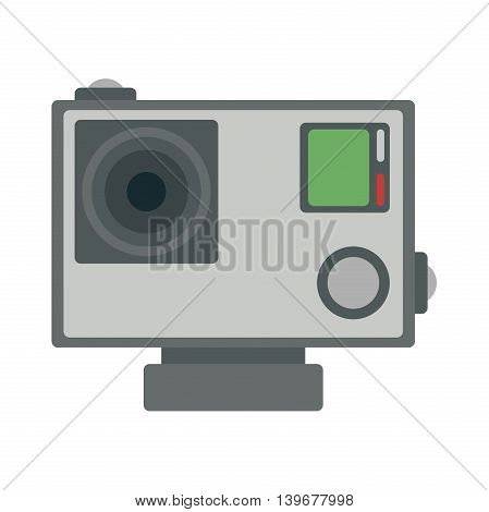 Action camera flat icon, vector illustration, colorful logo template, extreme photo and video cam symbol, editable design element for identity, logotype, prints, digital projects. Different colors