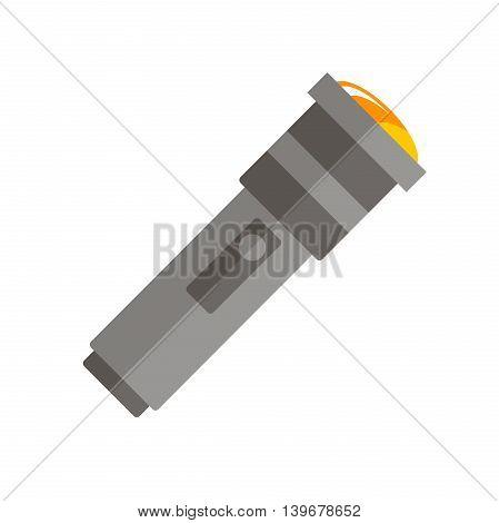 Flat flashlight icon. Vector illustration, EPS 10