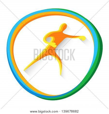 Box Sportsman Boxer Sport Game Logo Competition Icon Vector Illustration