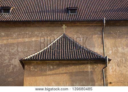 Prague gothic architecture city views roof tiles