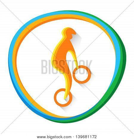 Cycling BMX Sportsman Sport Competition Icon Vector Illustration