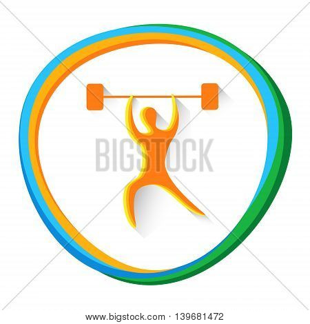 Weightlifting Sport Game Competition Icon Vector Illustration