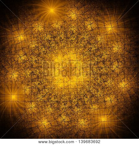 Colorful fireworks. Shining stars. 3D surreal illustration. Sacred geometry. Mysterious psychedelic relaxation pattern. Fractal abstract texture. Digital artwork graphic design astrology alchemy magic