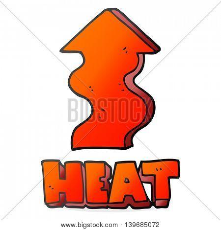 freehand drawn cartoon heat rising