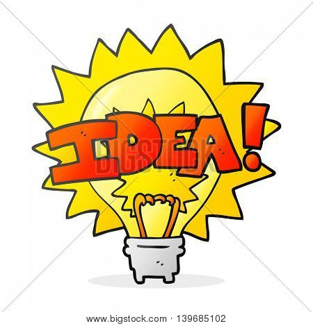 freehand drawn cartoon idea light bulb symbol