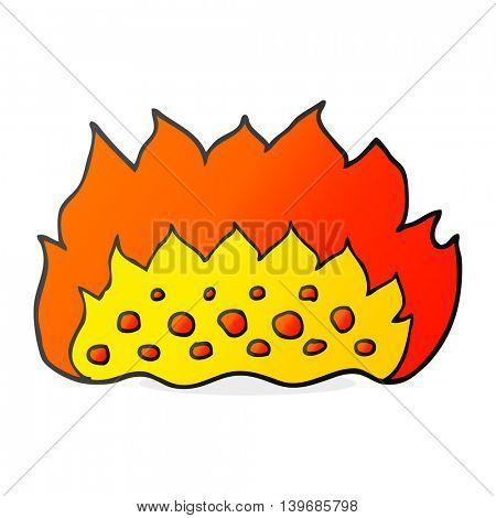freehand drawn cartoon flames