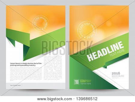A4 Flyer Brochure Layout Template Design, book cover concept