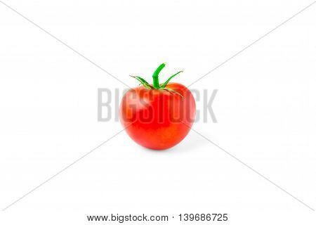 single tomato, isolated on white background, vegetable, food, healthy eating, bright