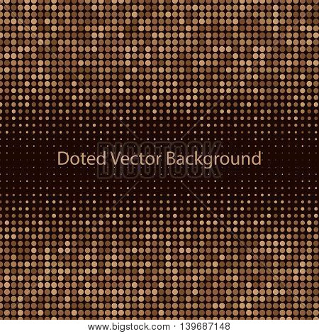 Abstract doted pattern. Brown and yellow background. Halftone. Vector illustration for use in your design.