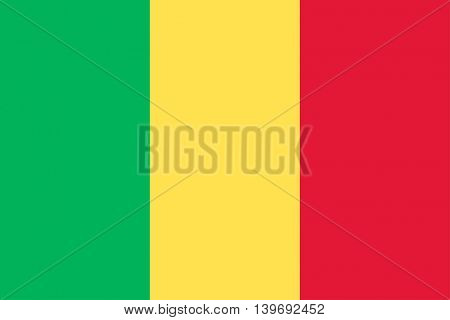 Vector Republic of Mali flag