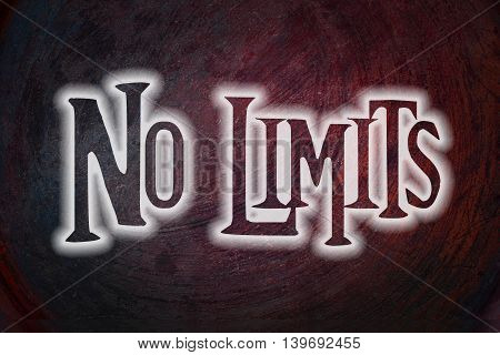 No Limits text on background concept social idea