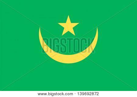 Vector Islamic Republic of Mauritania flag