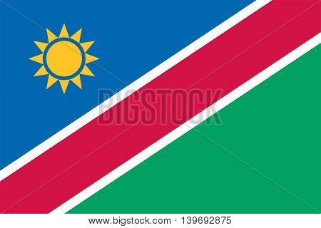 Vector Republic of Namibia flag