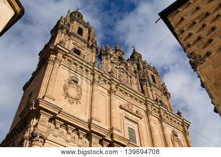 Pontifical University and house Casa de las Conchas in Salamanca