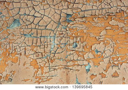 Old wooden planks with aging effects and rustic paint texture