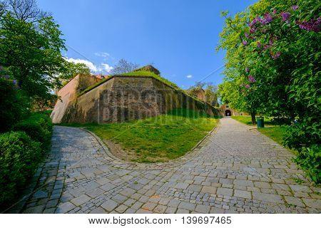 Brno, Czech Republic - April 29, 2016: Spilberk castle at sunny day