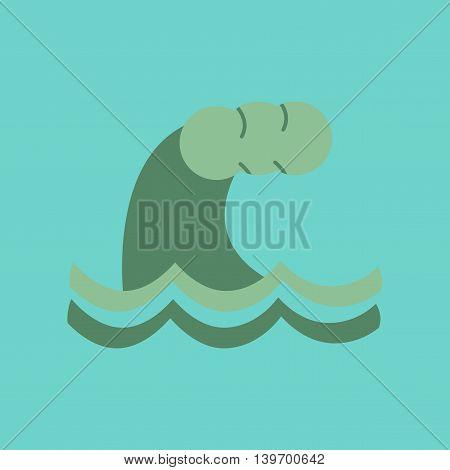 flat icon on stylish background nature tsunami danger