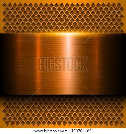 Metal background, polished metallic texture, vector illustration