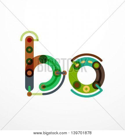 Vector letter - technolog minimal design