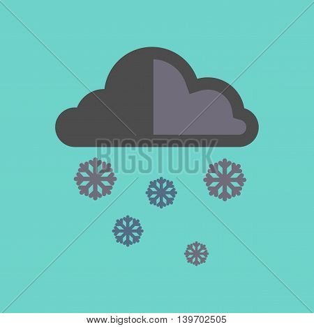 flat icon on stylish background nature cloud Snow